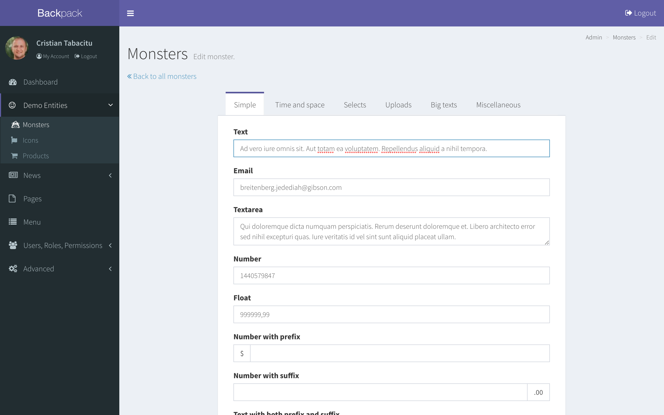 Build Laravel Admin Panels - Fast :: Backpack for Laravel