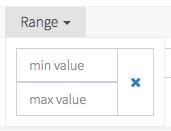 Backpack CRUD Range Filter
